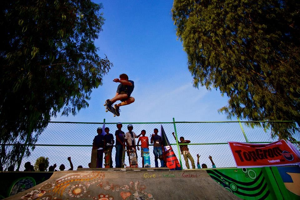 Danish skateboarder, Mathias Hall Laursen reaching new heights at the first Third Eye Tour.