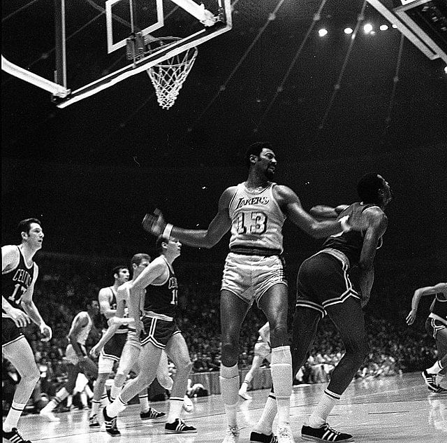 Wilt Chamberlain led the Lakers to their first champion in Los Angeles
