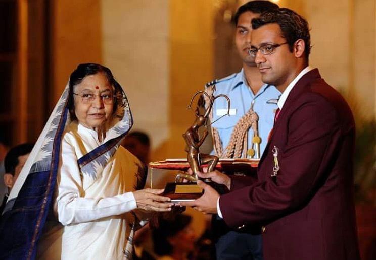 Rehan recieves the Arjuna award in 2010 for his incredible swimming career