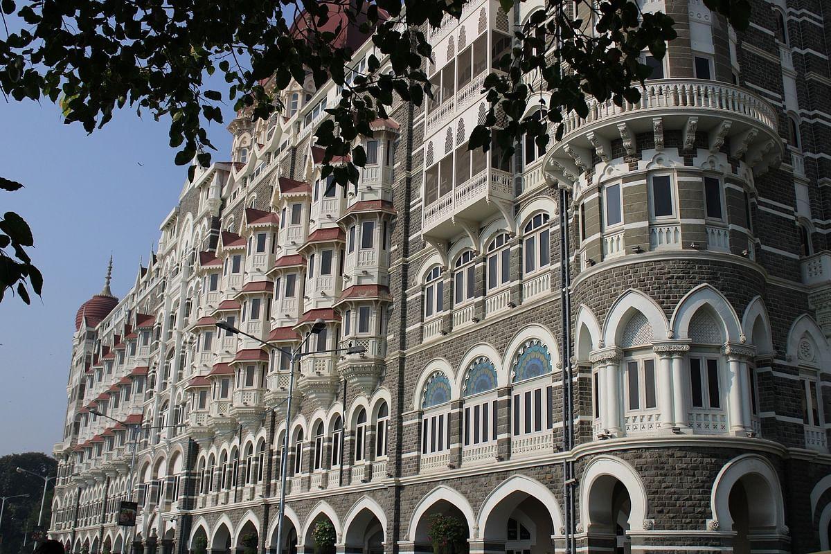 Luxury hotel Taj, located at Nariman Point in Mumbai.