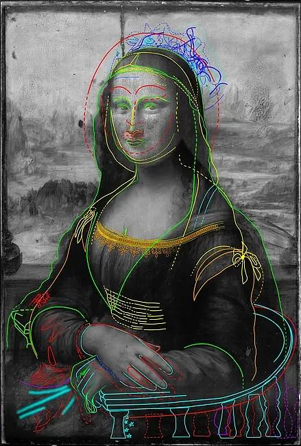Scans of Leonardo DaVinci's Mona Lisa