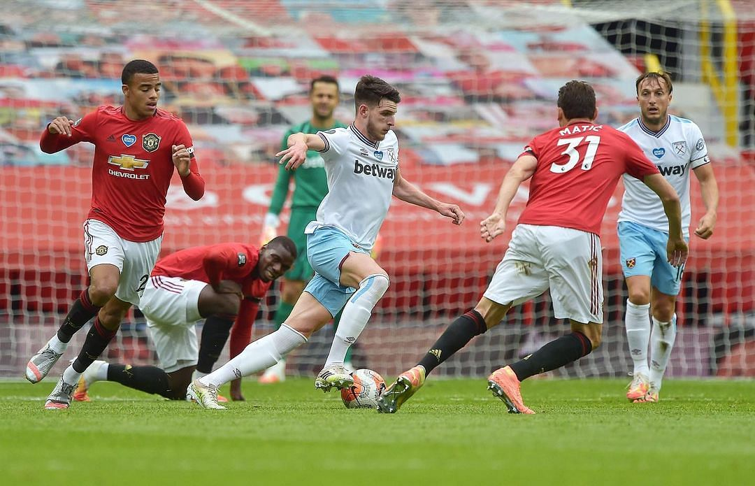 Declan Rice has been Manchester United's top transfer target.
