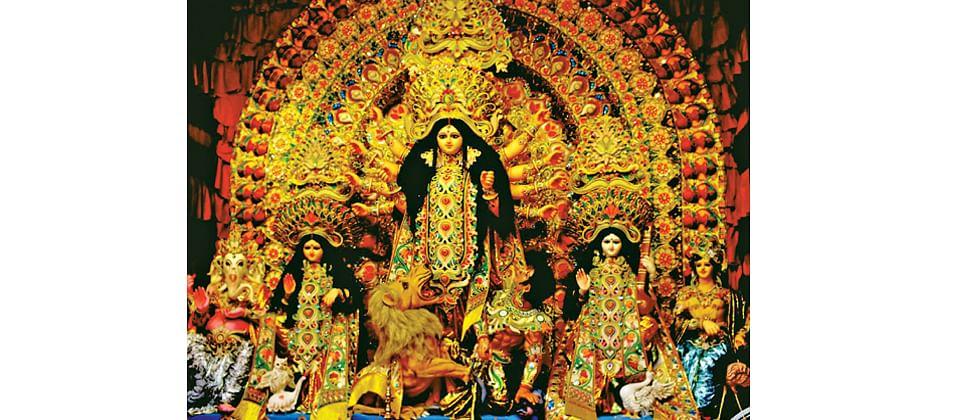 Youthful vibe during Durga Puja