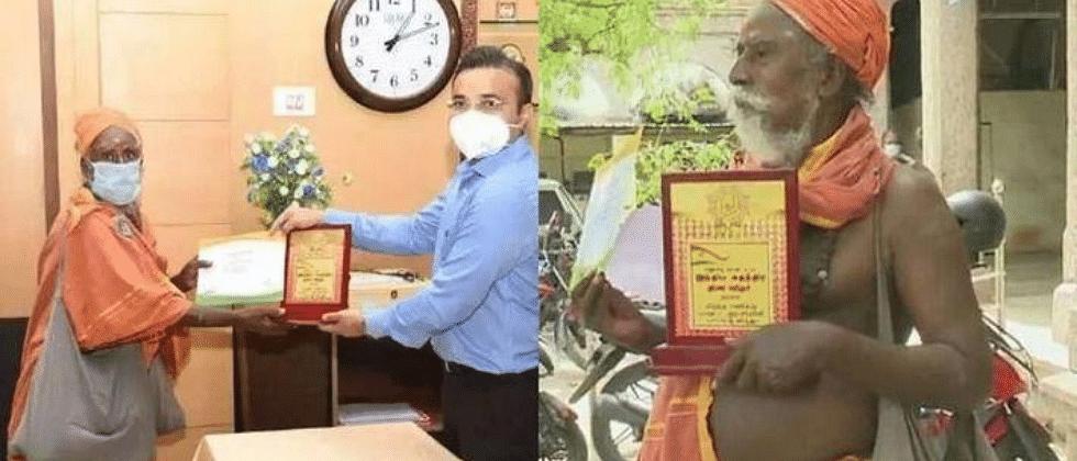 Madurai beggar awarded for donating Rs 90,000 in nine instalments