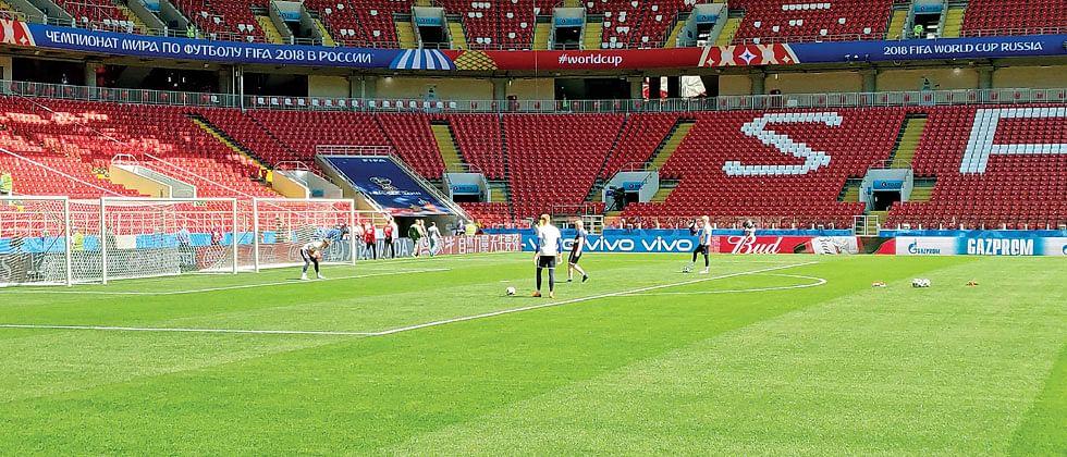 At Spartak, I was at home…