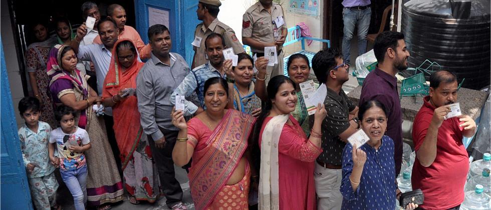 Delhi records 59.8 per centvoter turnout
