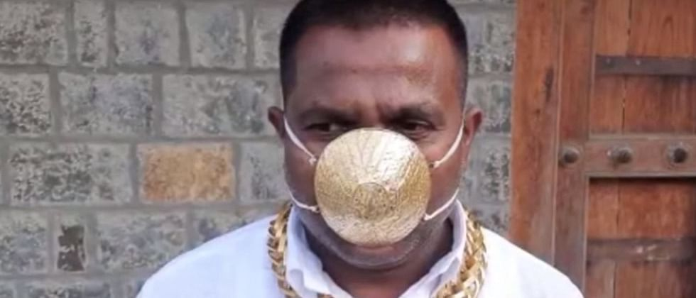 Pune: Man gets mask made of gold worth Rs 2.89 lakh