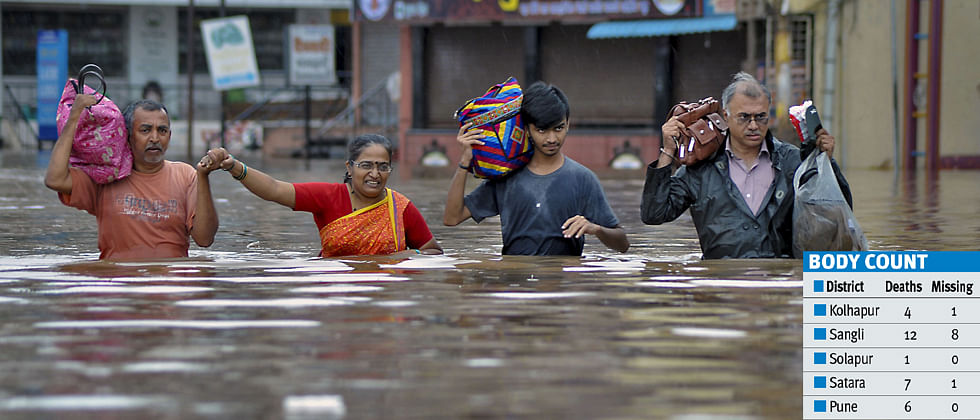 '4.13 lakh flood-hit people evacuated in Pune division'