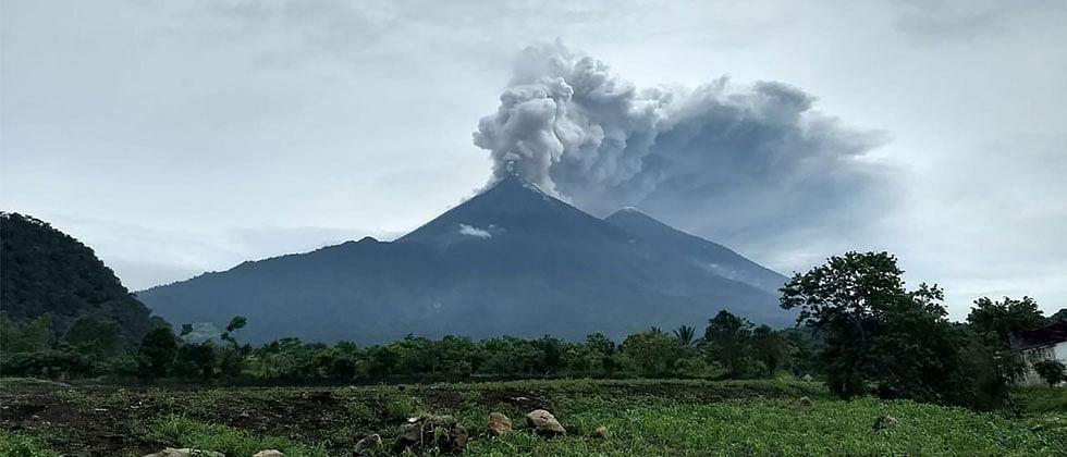 Volcano in Indonesia erupts