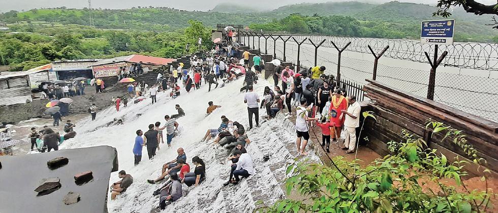 Maharashtra monsoon: Popular tourist attraction Bhushi Dam overflows; heavy rains in Lonavala and Khandala