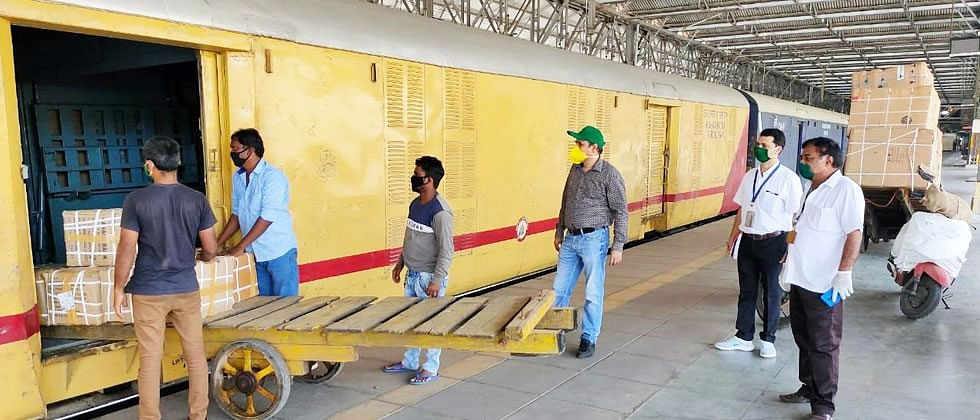 Central Railway dispatches essential commodities by parcel trains