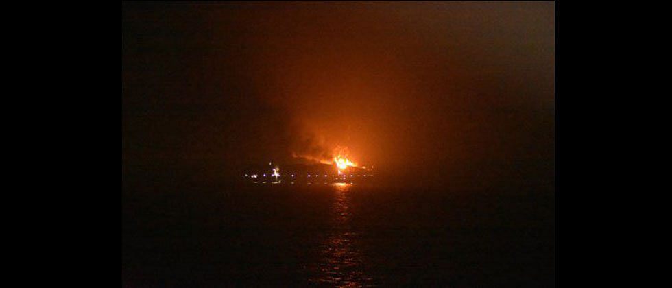 Maersk container ship catches fire near Lakshadweep, 4 crew members missing