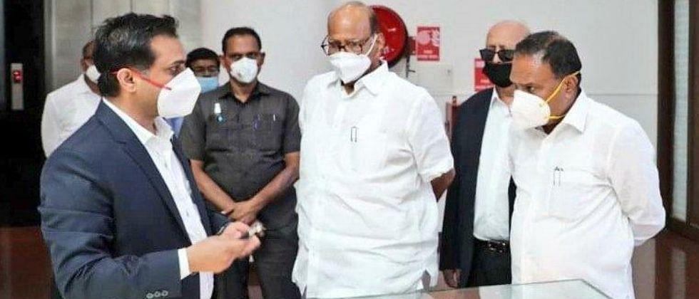 COVID-19 Pune: NCP Chief Sharad Pawar visits Serum Institute of India