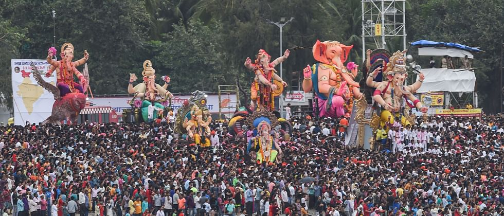 Lord Ganesh gets `Maha' farewell; 12 drown during visarjan