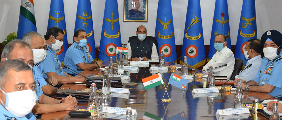 Pune: Rajnath Singh inaugurates Air Force Commanders Conference at Vayu Bhawan