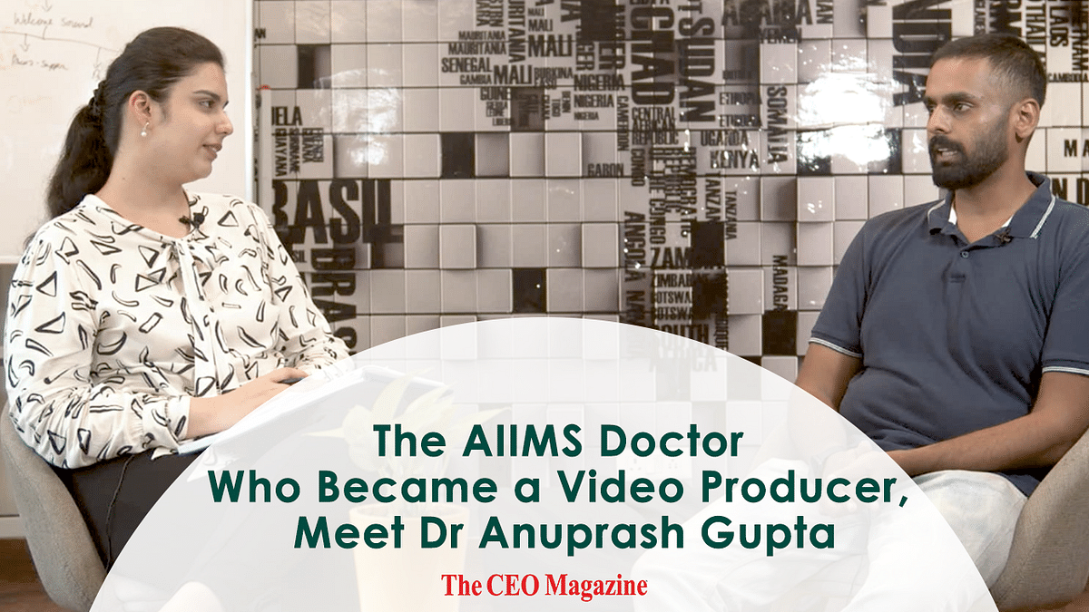The AIIMS Doctor Who Became a Video Producer, Meet Dr. Anuprash Gupta - Founder The Camera Man