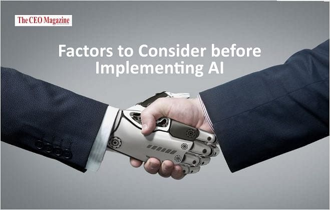 5 Factors to Consider before Implementing AI