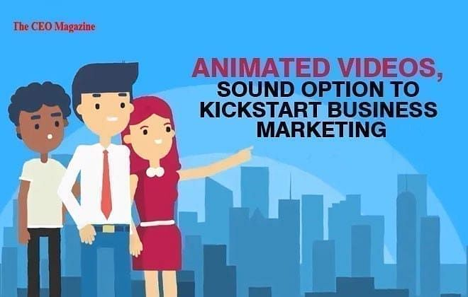ANIMATED VIDEOS, SOUND OPTION TO KICK START BUSINESS MARKETING