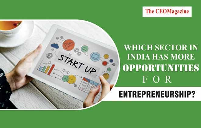 WHICH SECTOR IN INDIA HAS MORE OPPORTUNITIES FOR ENTREPRENEURSHIP?