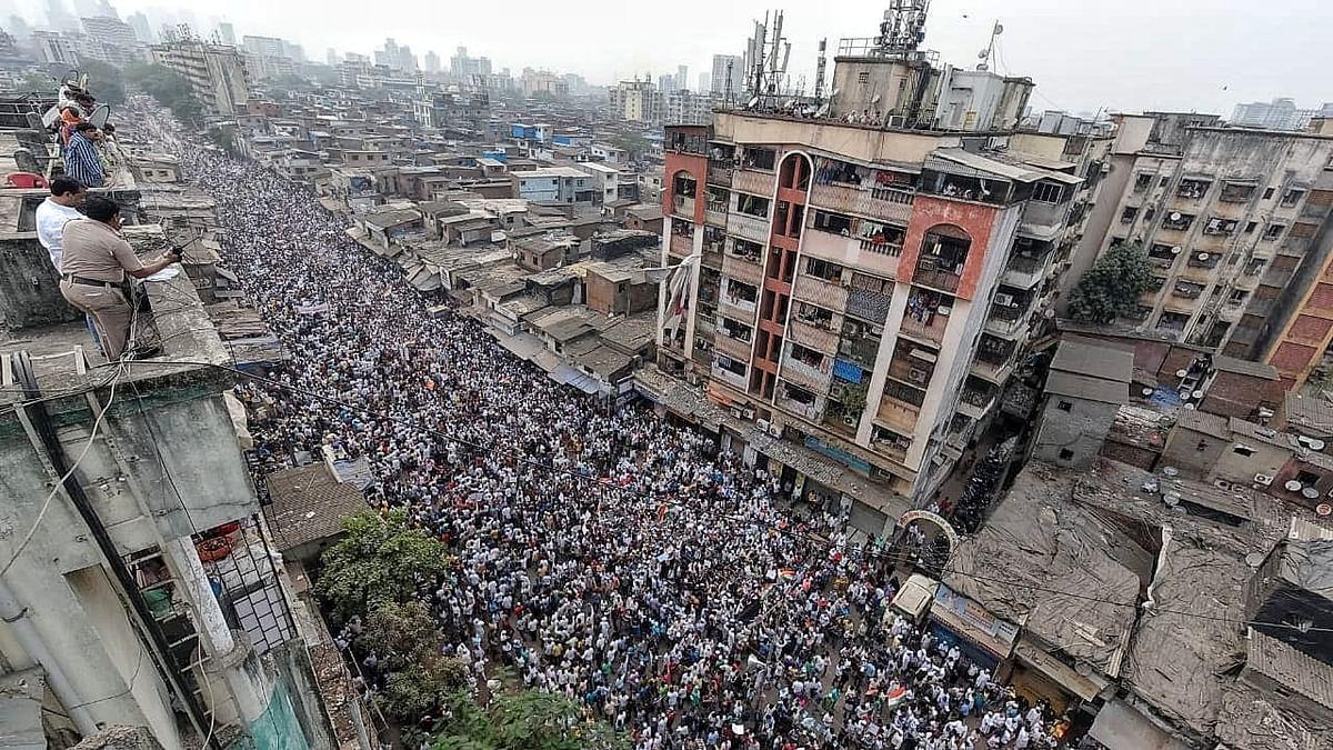 ധാരാവിയില് 25,000 പേര് പങ്കെടുത്ത പ്രതിഷേധറാലി