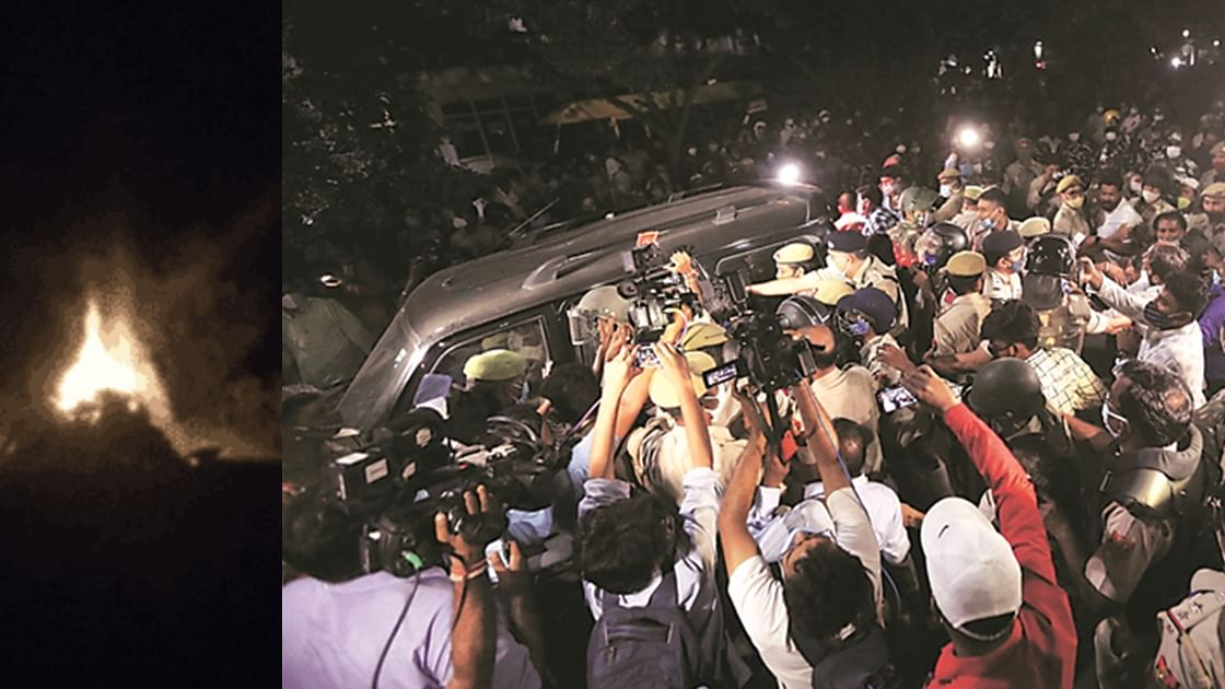 'മൃതദേഹം തിരക്കിട്ട് സംസ്കരിച്ചു'; വീട്ടിലേക്ക് കൊണ്ടുവരാന് പൊലീസ് സമ്മതിച്ചില്ലെന്ന് ദളിത് പെണ്കുട്ടിയുടെ കുടുംബം