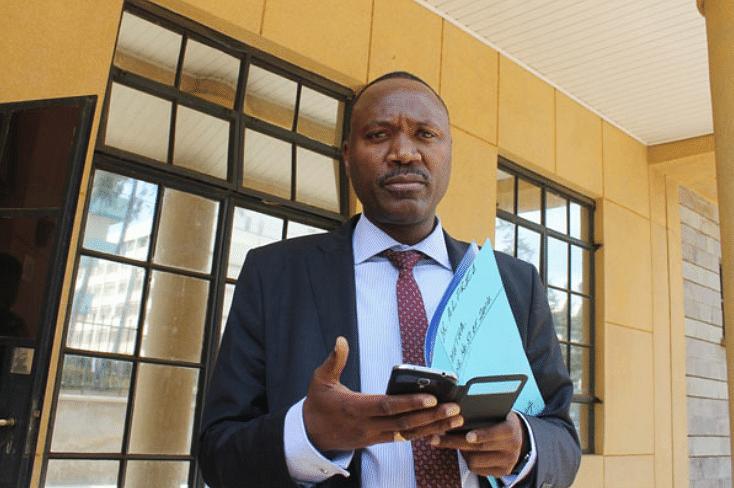Lawyer Nyamu during a recent court attendance