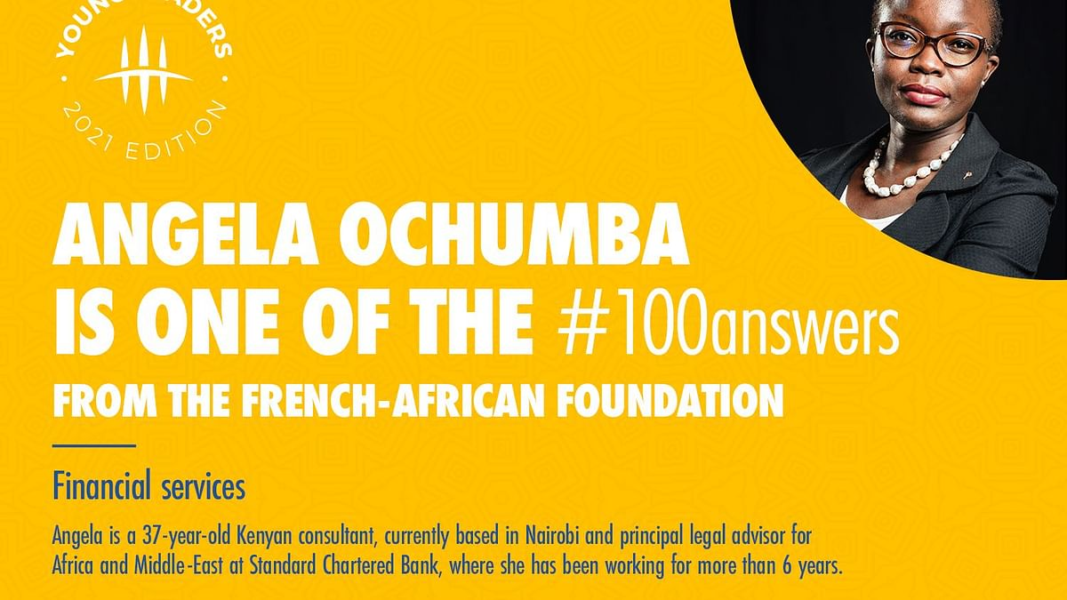 Standard Chartered Senior Legal Counsel Angela Ochumba named 2021 French-African Young Leader