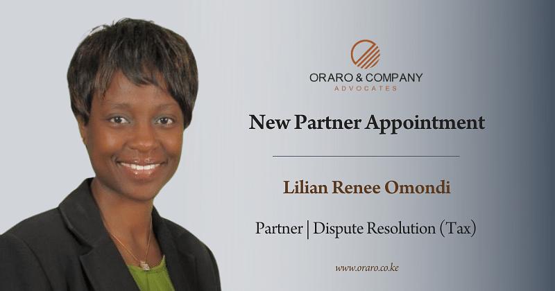 Lilian Renee Omondi Becomes the 12th Oraro & Company Partner