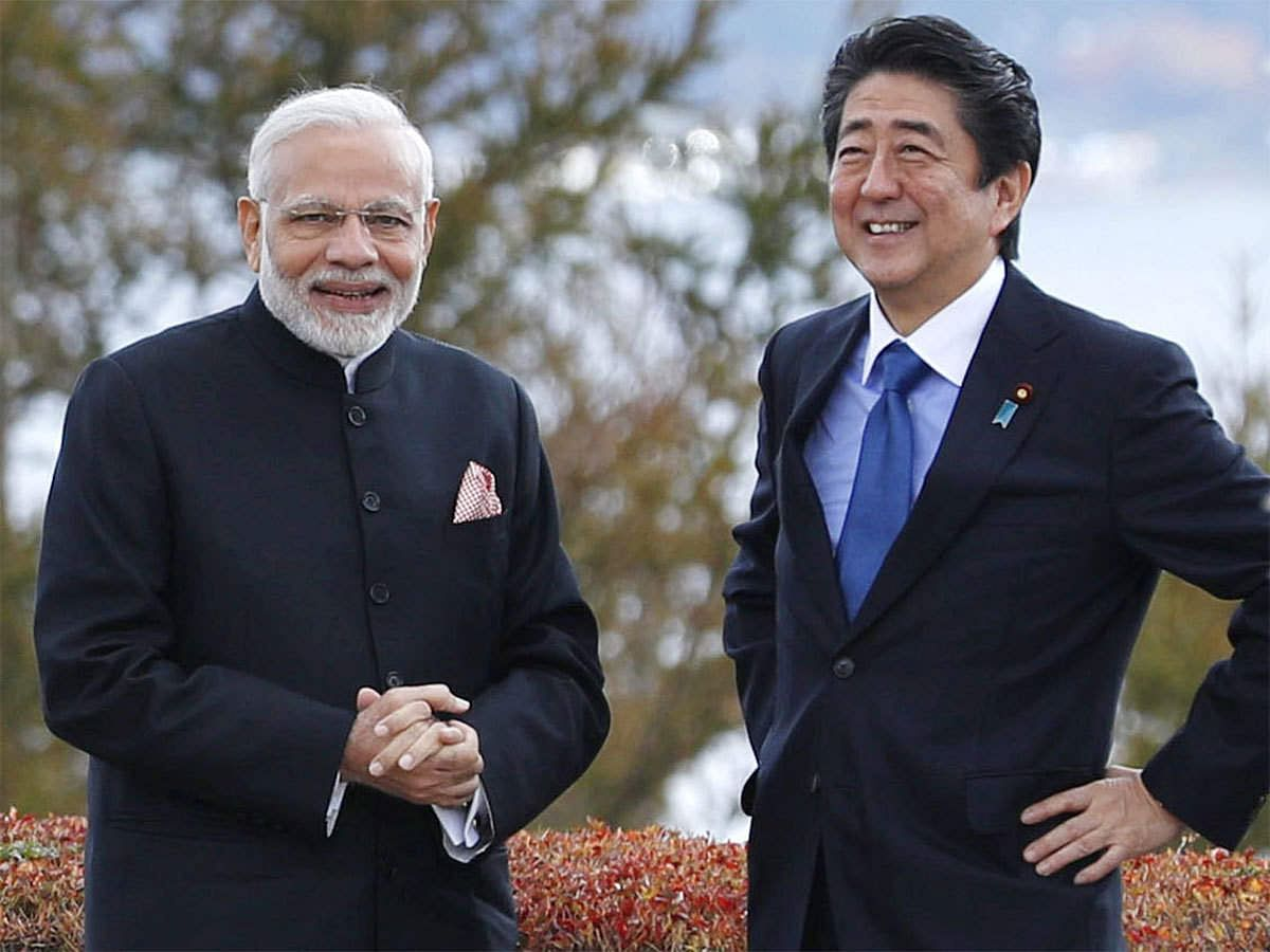 Abe is a close friend of Indian prime minister Modi