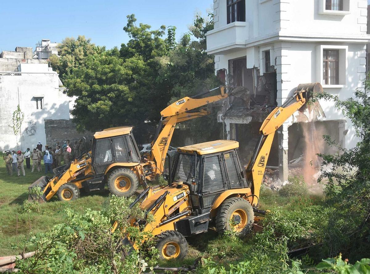 LDA Bulldozers Bring Down Illegal Buildings Of Mafia-Turned-Legislator Mukhtar Ansari