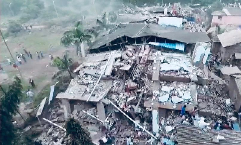 100 Feared Trapped As Multi-Storey Building Collapses In Maharashtra's Raigad