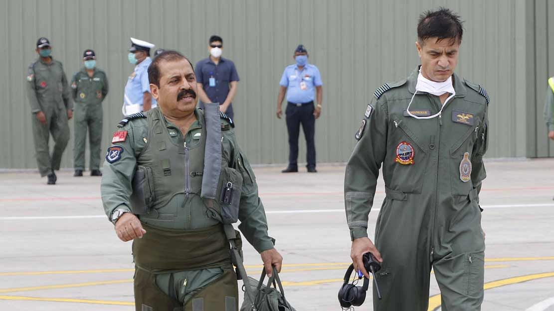 Indian Air Force Chief Visits Frontline Airbases In Eastern Air Command
