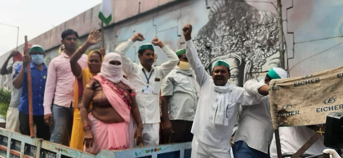 Farmers Take To Streets In Uttar Pradesh, Disrupt Traffic To Protest Against Farmer Bills