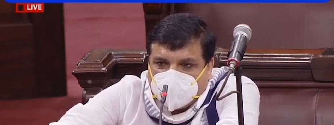 संजय सिंह ने राज्य सभा में कहा, यूपी सरकार उनके साथ कर रही है दुर्व्यवहार