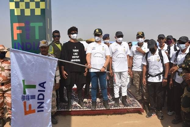 200-Km Long 'Fit India Walkathon' Flagged Off From Jaisalmer