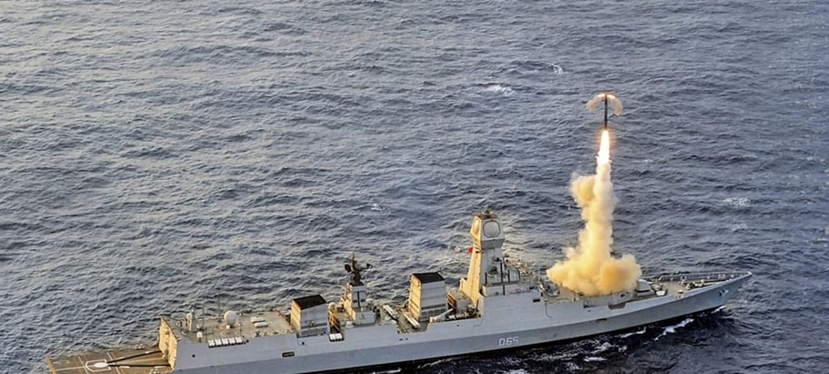 BrahMos Supersonic Cruise Missile Successfully Test Fired From Indian Navy's Stealth Destroyer, INS Chennai