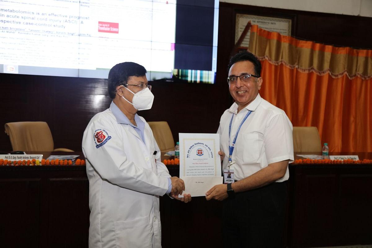 KGMU's RN Srivastava Honoured For Research Work