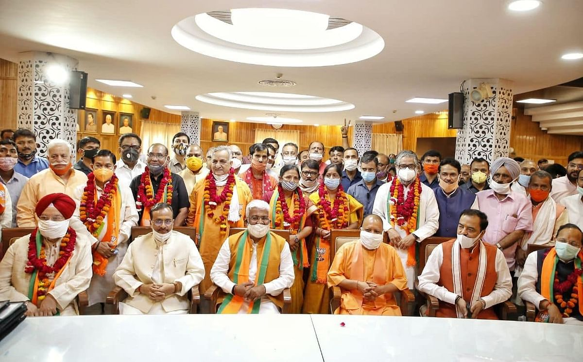 BJP Candidates For Rajya Sabha Polls File Nominations In Lucknow