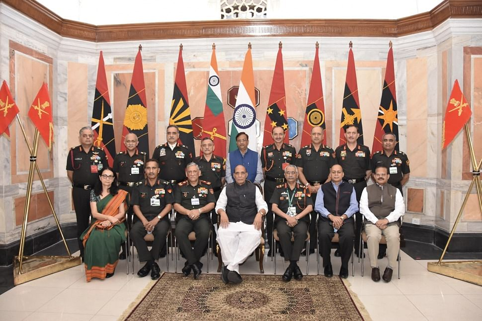 Rajnath Singh Addresses The Senior Leadership Of The Indian Army