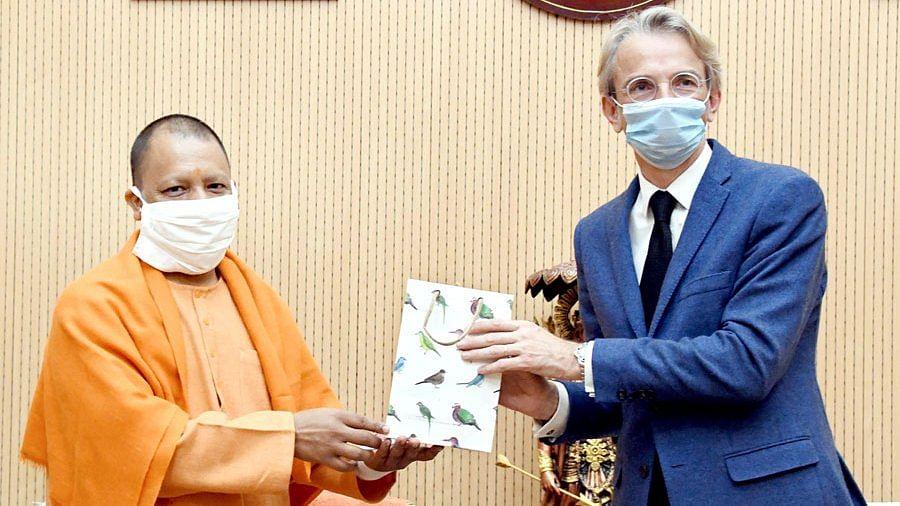 French Ambassador To India Emmanuel Lenain Calls On UP Chief Minister