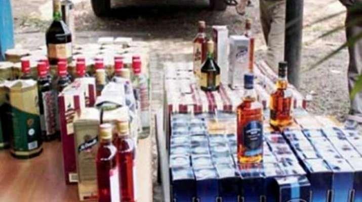Azamgarh Police Raids Illicit Liquor Manufacturing Unit, Stickers Of Branded Companies Seized