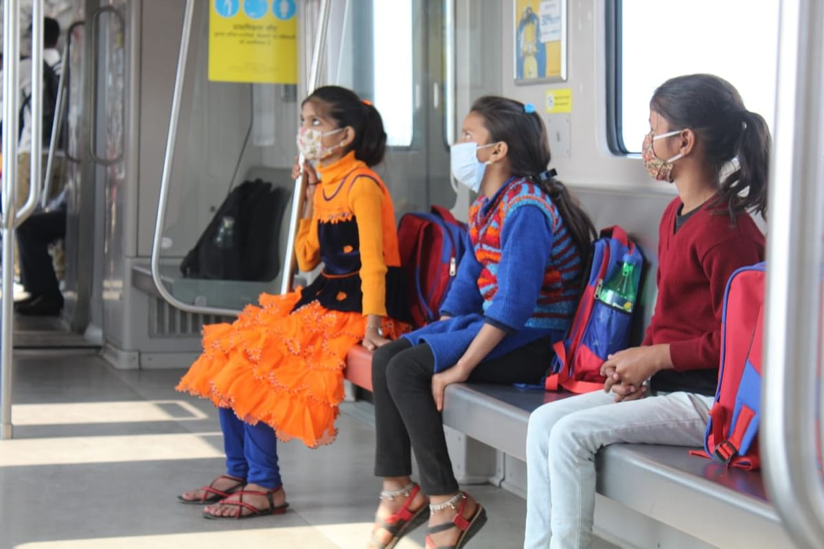 Children From Vigyan Foundation Take A Joy Ride In Lucknow Metro