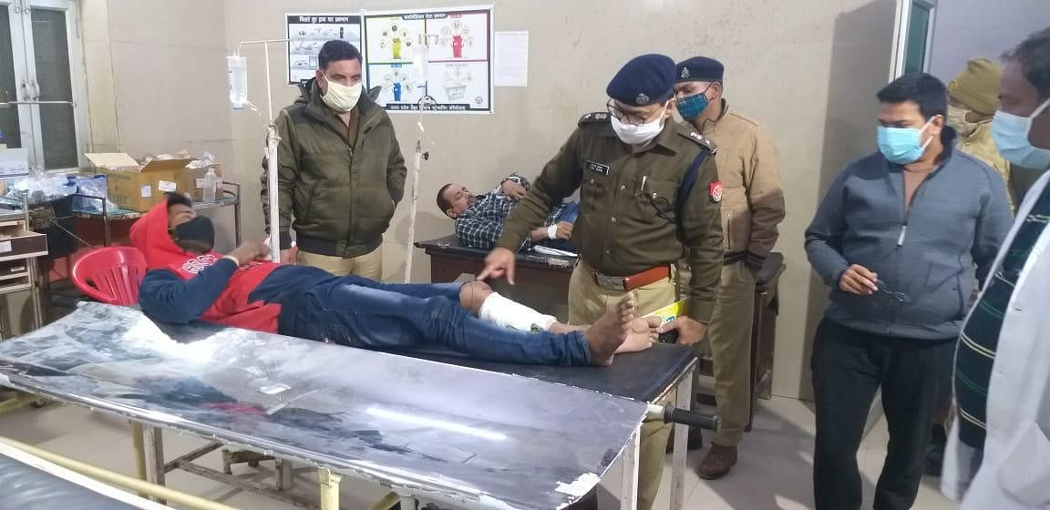Police Encounter With Criminal In Mainpuri, Two Injured
