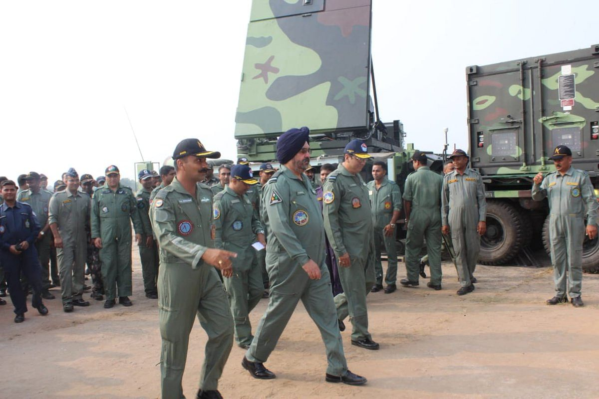 Vice Chief Of Air Staff Witnesses Combined Guided Weapons Firing At AFS Suryalanka