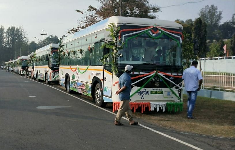 Forty Electric Buses Flagged Off In Andaman And Nicobar Islands, Will Curb Pollution