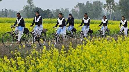 UP Government Gives Away Cycles To Class 10, 12th Going Children Of Labourers