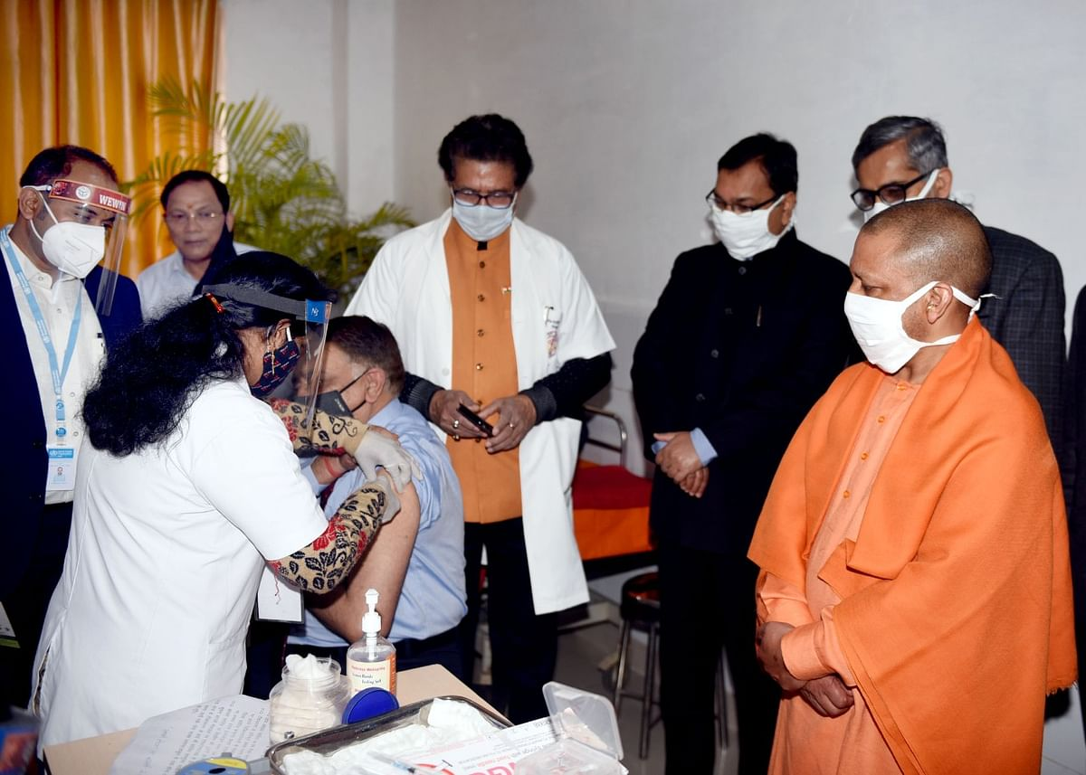 COVID Vaccine Drive Launched In Uttar Pradesh, Yogi Thanks PM And Scientists
