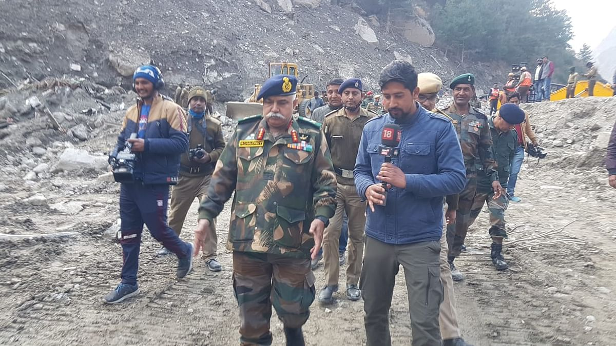 DG BRO Visits Joshimath to take Stock of Damages Due to Glacier Burst