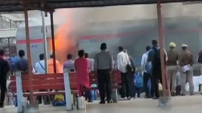 Generator Car Of Shatabdi Express Catches Fire In Ghaziabad