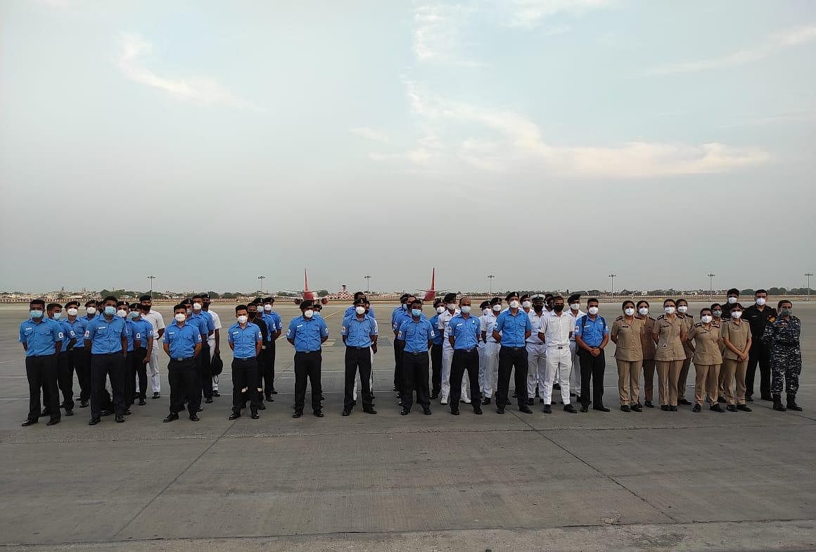 Medical Team From Indian Navy Deputed At PM Covid Care Hospital In Ahmedabad
